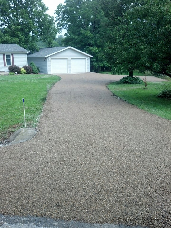 New Colored Oil And Chip Residential Driveway In Southern Illinois Penninger Commercial Asphalt